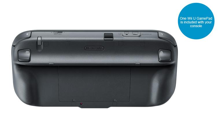 Černý GamePad - zadní strana