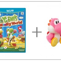 WiiU Yoshi's Woolly World + amiibo Yarn Yoshi Pink31152
