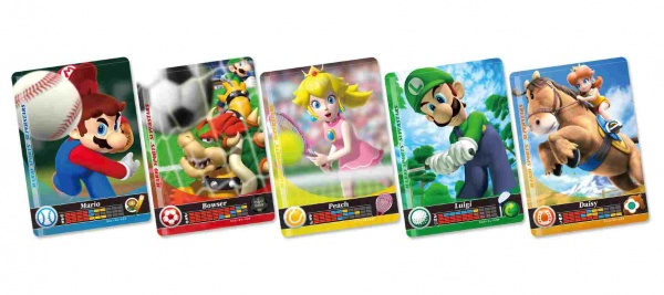 3DS Mario Sports Superstars amiibo card (5pcs)31825