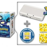 New Nintendo 3DS White+Pokémon AS+Pikachu Faceplat25506